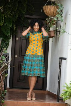 Latest Ankara Dress Styles - Loud In Naija Latest African Fashion Dresses, African Dresses For Women, African Print Dresses, African Print Fashion, Africa Fashion, African Attire, African Wear, African Women, Short Ankara Dresses