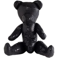 Freddy Dico Teddy Bear Sculpture ($300) ❤ liked on Polyvore featuring home, home decor, decor, filler, black home decor, black bear home decor, heart sculpture, crystal sculpture and black bear sculptures