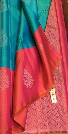 Indian Bridal Sarees, Wedding Silk Saree, Indian Silk Sarees, Blue Silk Saree, Kanjivaram Sarees Silk, Fancy Blouse Designs, Bridal Blouse Designs, Latest Pattu Sarees, Saree Color Combinations