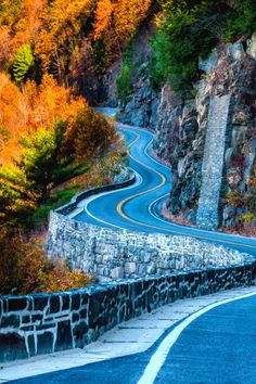 Autumn Highway, Hawk's Nest, NY State Route 97 ~  (Port Jervis, New York photo by David Gardiner.)