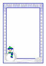 Weather A4 page borders - portrait (SB6477) - SparkleBox