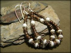 Hoop Earrings - Beaded Earrings - Tribal Earrings - Large Earrings - Southwest Earrings. $29.00, via Etsy.