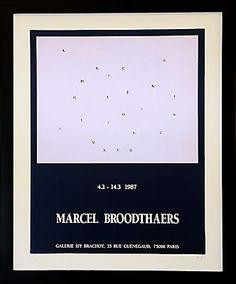Vintage French Gallery Poster, Marcel Broodthaer - Wall Art - Modern Living Room Furniture - Room & Board
