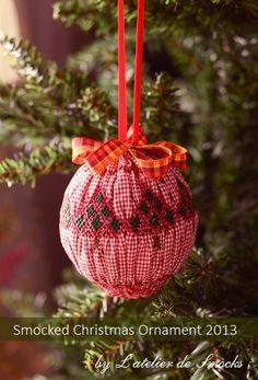 『Smocked Christmas Ornament 2013 ♪』~Counterchange Smocking
