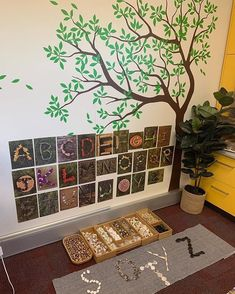 The was a popular addition to our tree wall. The children loved this uppercase n… The was a popular addition to our tree wall. The children loved this uppercase nature alphabet and as soon as they saw it started singing… – Reggio Emilia Classroom, Reggio Inspired Classrooms, Reggio Classroom, Classroom Design, Kindergarten Classroom, Reggio Emilia Preschool, Classroom Tree, Montessori Activities, Kindergarten Literacy