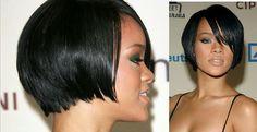 Rihanna bob haircut. Love it.