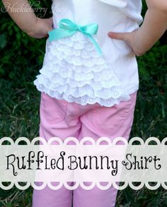 Huckleberry Love: Ruffled Easter Bunny Shirt {Tutorial}
