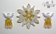Quilled christmastree ornaments by pinterzsu