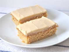 Butterscotch Finger Cakes (Krimpets) (I used to LOVE!!! TastyKakes Butterscotch Krimpets!) (Make sure to use homemade vegan butter (NO Earth Balance/Palm Oil in my house) and organic sugars)