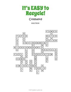 Landforms crossword puzzle student learning students and learning recycling crossword puzzle ccuart Images