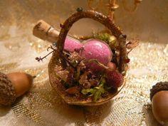 Forgotten Enchanted Fairy Walnut Basket with Magic Fairy Dust - Handmade and OOAK. $15.00, via Etsy.