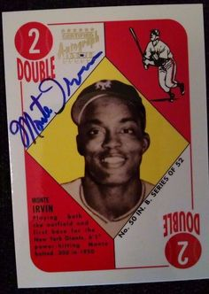1997 Topps Stars Rookie Reprint Autographs #6 Monte Irvin Team: New York Giants  #NewYorkGiants