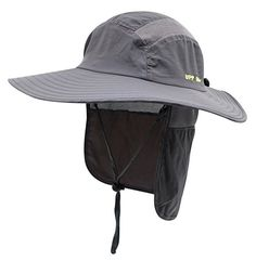 8d7995331bfc0 Discounted Home Prefer Mens UPF 50+ Sun Protection Cap Wide Brim Fishing Hat  with Neck