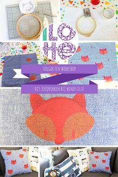 Doorlotte volgde een workshop DIY zeefdrukken bij Windstilte
