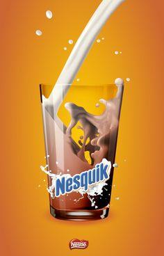 Realistic looking milk. Wondering if they used gradient mesh or blends.