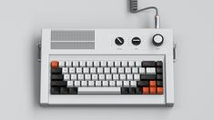 Personal A mechanical keyboard concept with strong references to the aesthetics of Dieter Rams. Computer Gadgets, Computer Case, Technology Gadgets, Gaming Pc Build, Dieter Rams, Old Computers, Cool Inventions, Cool Tech, Retro Futurism
