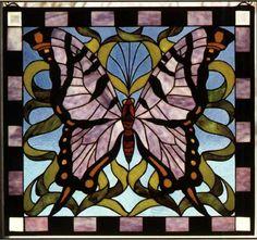 Tiffany Stained Glass Windows, Butterfly Window -W. By Meyda Tiffany