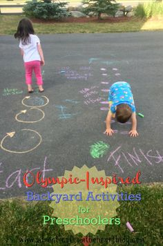 Teach your kids about the Olympics and make your backyard into a whole lot of fun with these simple Olympic activities for preschoolers! These fun activities for kids are so easy to set up. Try setting up a cool Olympic backyard station this spring! Olympic Games For Kids, Sports Activities For Kids, Gross Motor Activities, Kids Learning Activities, Preschool Activities, Outdoor Activities, Therapy Activities, Family Activities, Perception