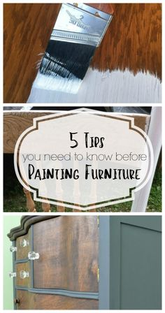i wish i had known these 5 tips for painting furniture before i started painting