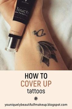 How to cover up tattoos for woman and men. At some time you might need to cover up a tattoo, learn the best way to do it. Cover up tatto for work , wedding, or anytime. Easy way to cover up a tattoo. See before and after pictures. Cover Up Tattoos For Men, Cross Tattoos For Women, Tattoos For Guys, Cover Tattoos, Cover Up Tattoos Before And After, Makeup Before And After, Tattoo Makeup Coverup, Makeup Tattoos, 16 Tattoo