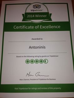 It's been a great 20 months and massive thanks go to all the staff! Excellence Award, Trip Advisor, Thankful, June