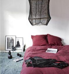 Colored bed linen Marsala Bodie and fou.hotos: bodieandfou.com / Photographer: François Köng / Stylist: Karine Köng - Bedsheets color Marsala Lire la suite :