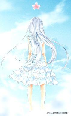 Honma Meiko - Ano Hi Mita Hana no Namae o Bokutachi wa Mada Shiranai. Manga Anime, Anime Oc, Sad Anime, Manga Art, Menma Anohana, Otaku, Blue Anime, Digital Art Anime, A Silent Voice