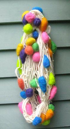 Handspun Art Yarn / Balloons by Fiber Artist GERRY by Dreamfiber