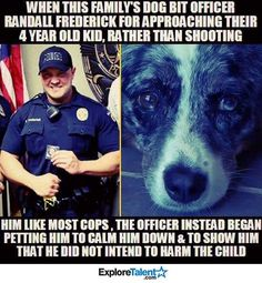 Wish that would happen offten its an innocent Dog protecting its owners hes a great guy for not shooting him