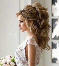 Large updos for long hair - new hair hairstyles .- Große Hochsteckfrisuren für lange Haare – Neu Haare Frisuren 2018 Large updos for long hair occasions - Short Wedding Hair, Wedding Hairstyles For Long Hair, Wedding Hair And Makeup, Hairstyle Wedding, Hair Makeup, Bridal Hair Up, Wedding Hairstyles Half Up Half Down, Wedding Dress, Romantic Wedding Hair