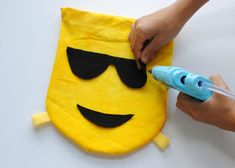 Trash To Couture: DIY Kids: Emoji Backpacks Emoji Backpack, Trash To Couture, Diy For Kids, Backpacks, Bags, Kawaii Plush, Handbags, Backpack, Backpacker