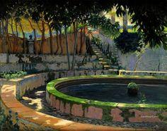 Santiago Rusiñol i Prats ~ Modernist/Symbolist painter Post Impressionism, Impressionism, Spanish Art, Daily Painting, Spanish Artists, Art Masters, Painting, Art, Symbolist