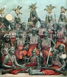 """The #Dahomey Amazons or Mino (meaning """"Our Mothers"""" in the Fon language) were a Fon all-female military regiment of the Kingdom of Dahomey in the present-day Republic of Benin. The Fon women's army had three main wings: the right and left wings, and the elite center wing or Fanti. Each of"""