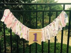 Springtime in Paris birthday fabric banner garland high chair bunting by Pattycakespapers on Etsy