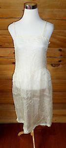 Antique 1800s Victorian Edwardian Era Womens Sheer Silk Dress Slip, Lace, Delicate $39.99