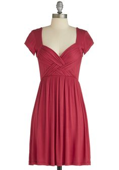The perfect color, with the short sleeves makes it easy to wear anywhere! Even in a church with no cover up!  Be-weave Me Dress, #ModCloth