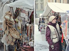 Oh, to be there again. Embroidered panels, wooden beads and woven belts - my shopping heaven. (Lviv Bazaar, Ukraine)