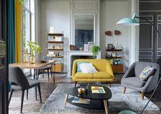 La tendance déco scandinave vintage blanc bois rotin pastel noir&blanc jaune moutarde bleu pétrole doré cuivré rose berbère géométrique marbré | Mon blog à Anne-Sotte