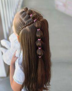 Effortless Side Braid - 30 Elegant French Braid Hairstyles - The Trending Hairstyle Baby Girl Hairstyles, Princess Hairstyles, Cute Hairstyles, Girl Hair Dos, French Braid Hairstyles, Natural Hair Styles, Long Hair Styles, Toddler Hair, Trending Hairstyles