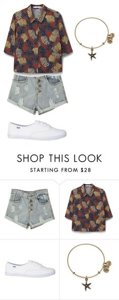 """""""Sem título #33"""" by cacaubsampaio ❤ liked on Polyvore featuring MANGO and Alex and Ani"""