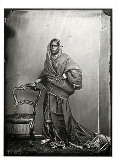 Indian lady, Jaipur 1859