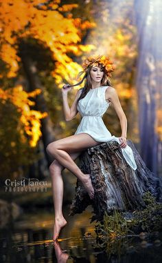Photographic Print Portrait of Beautiful Girl in the Forest Girl with Fairy Look in Autumnal Shoot by iancucristi - Fairy photoshoot, Photography, Fantasy photography, Portrait, Portrait phot - Woods Photography, Fantasy Photography, Portrait Photography, Fashion Photography, Photography Accessories, Photography Ideas, Tabletop Photography, Photography Reflector, Photography Quote