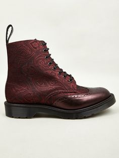 VIEW FULL SIZE IMAGES Dr Martens Men's Cherry Red MIE Calder Paisley Silk Boots