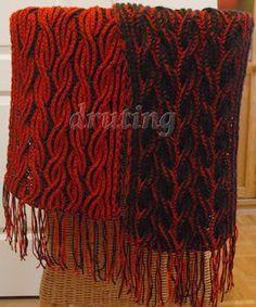 Flaming Scarf - Two colour Brioche Stitch Scarf