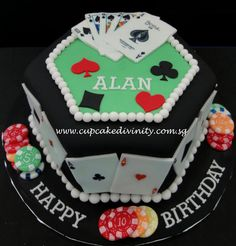 Poker cake but simpler to decrease cost
