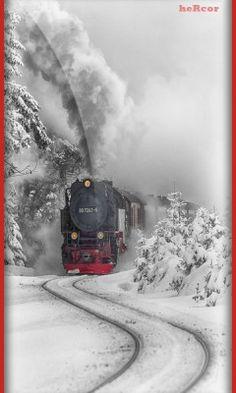 Fondo tren rojo 360 hc para celular