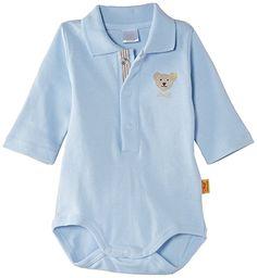 Steiff Unisex - Baby Body 0008713, Gr. 56, Blau (baby blue 3023)