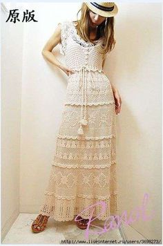 Crinochet: Beige Chevron Pattern Dress. Love!!
