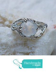 """Sterling Silver Rainbow Moonstone Ring """"Ariel"""" MADE TO ORDER, moonstone engagement ring,delicate ring,tree branch ring from BlackTree https://www.amazon.com/dp/B017UDSEZ2/ref=hnd_sw_r_pi_dp_pnK0wbBM0ZF09 #handmadeatamazon"""