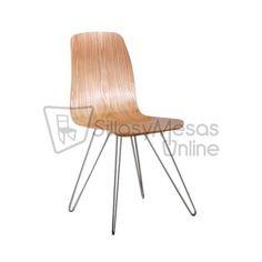 Silla vintage Sheffield estilo nórdico en madera de haya para hostelería